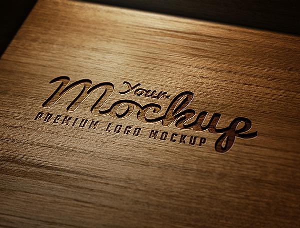 Your Mockup Logo Mockups Vol 2 Carved Wood Logo Mockup Mockup Logo