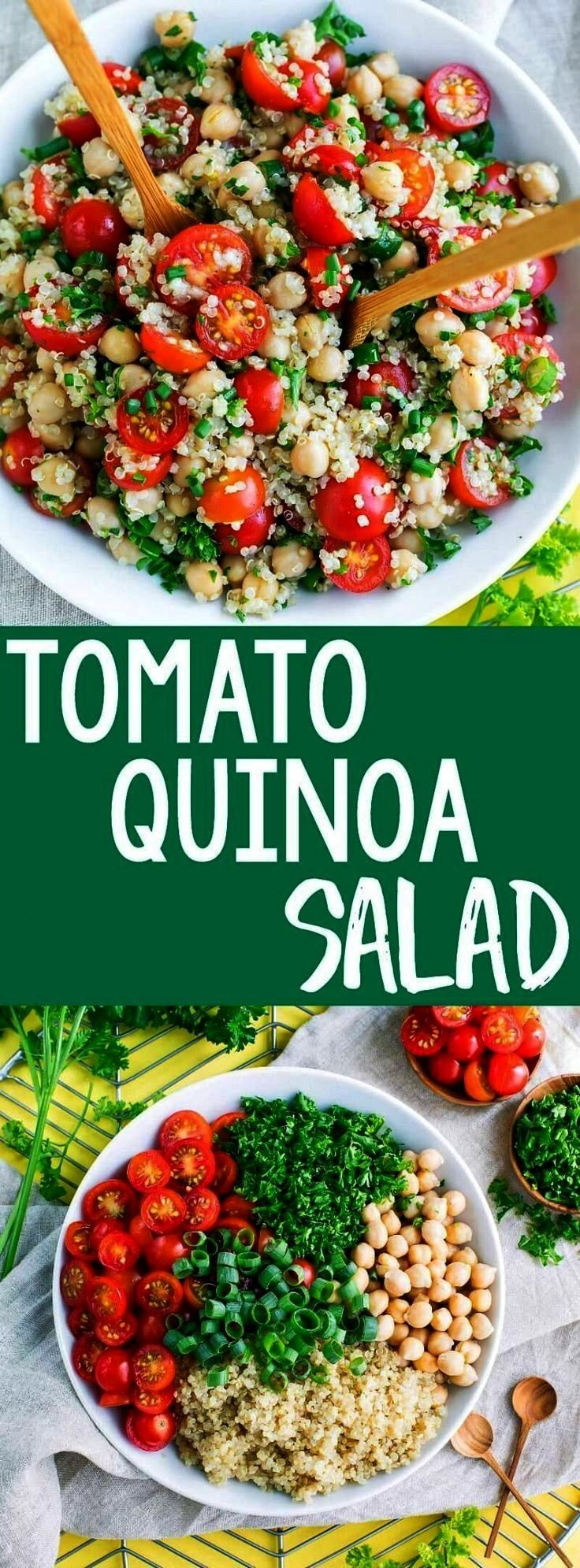 Salad Its time to add another tasty quinoa recipe to our meal prep game! This Tomato Quinoa Salad