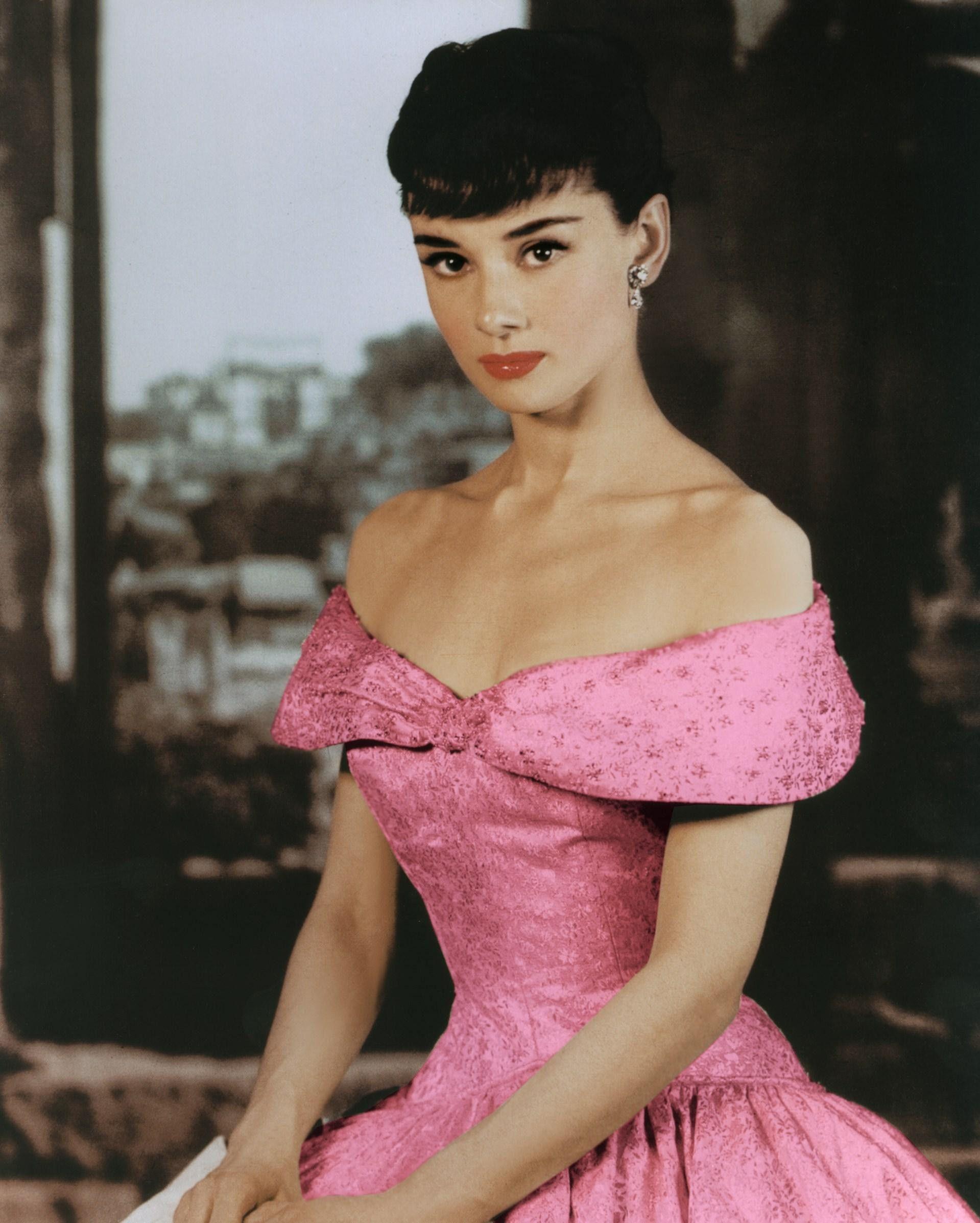 Audrey Hepburn hot pink dress Imgur | Audrey Hepburn | Pinterest ...