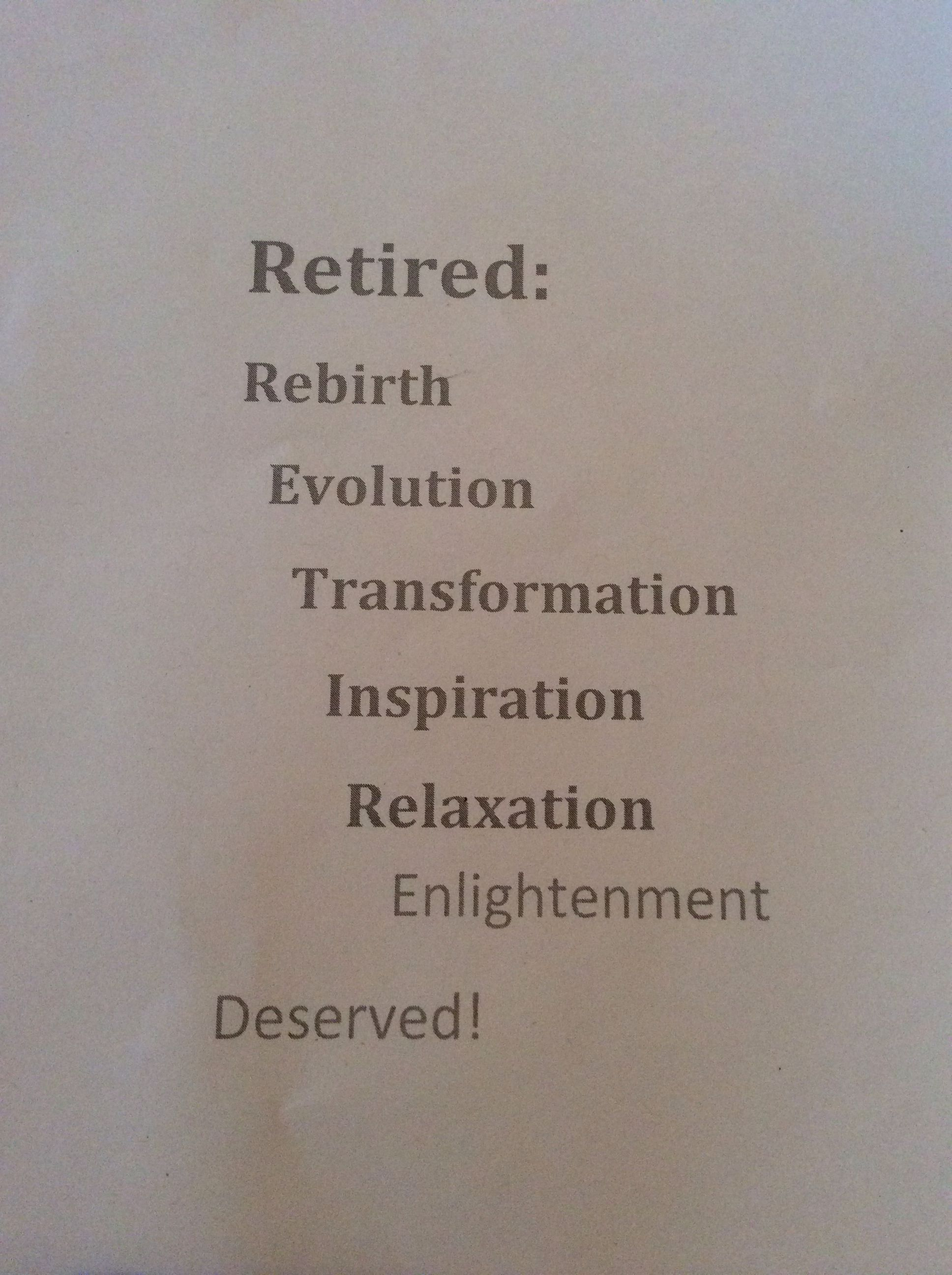 retirement card sentiment