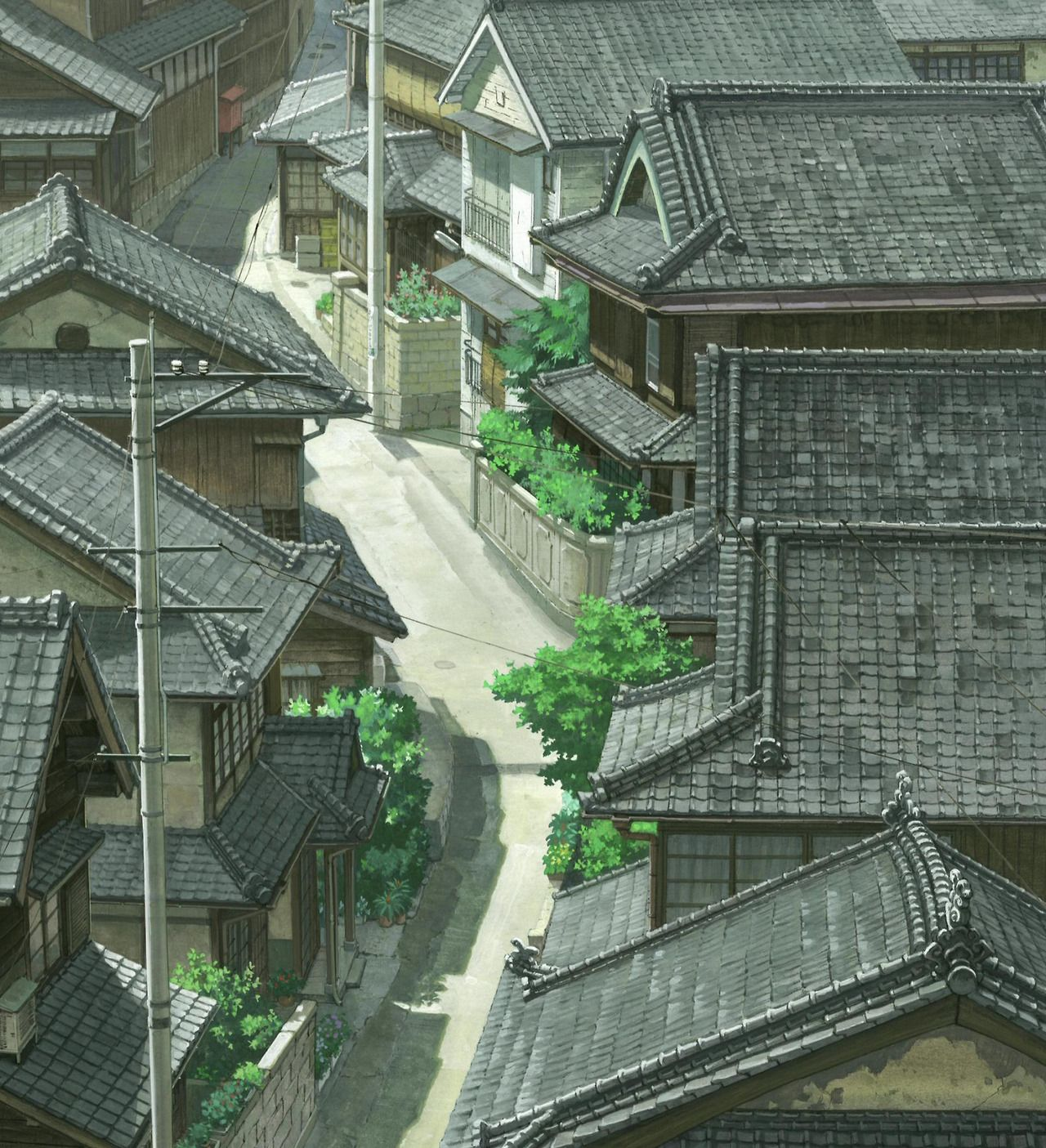 Anime Backgrounds A Letter To Momo Directed By Hiroyuki Okiura Created By Production I G Anime Scenery Anime Background Background