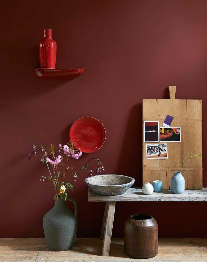 1001 ideen zum thema welche farbe passt zu rot rbb. Black Bedroom Furniture Sets. Home Design Ideas