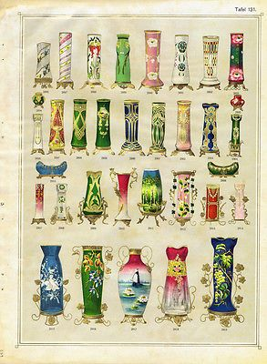 Carl Hosch Reprint of Bohemian Glass Catalog, ca. 1906-1906 - Czech glass