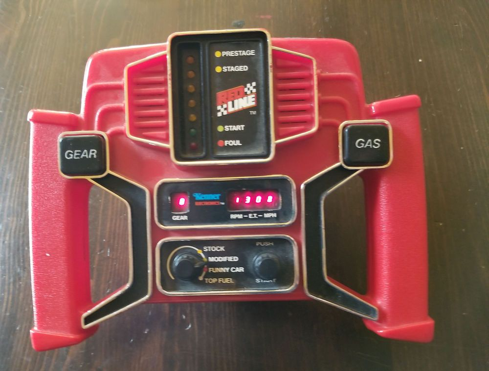 Vintage Kenner Redline Drag Racing Electronic Handheld Retro Car Race