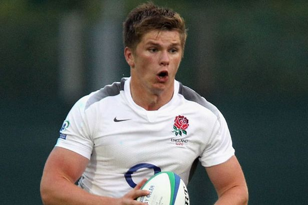 Owen Farrell. Kicking like a metronome at Twickenham. England vs Scotland 6 nations rugby