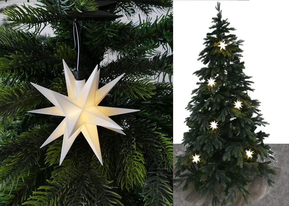 Lovely  Sternenlichterkette f r Weihnachtsbaum Lichterkette mit Sterne f r die Baumbeleuchtung innen oder au en