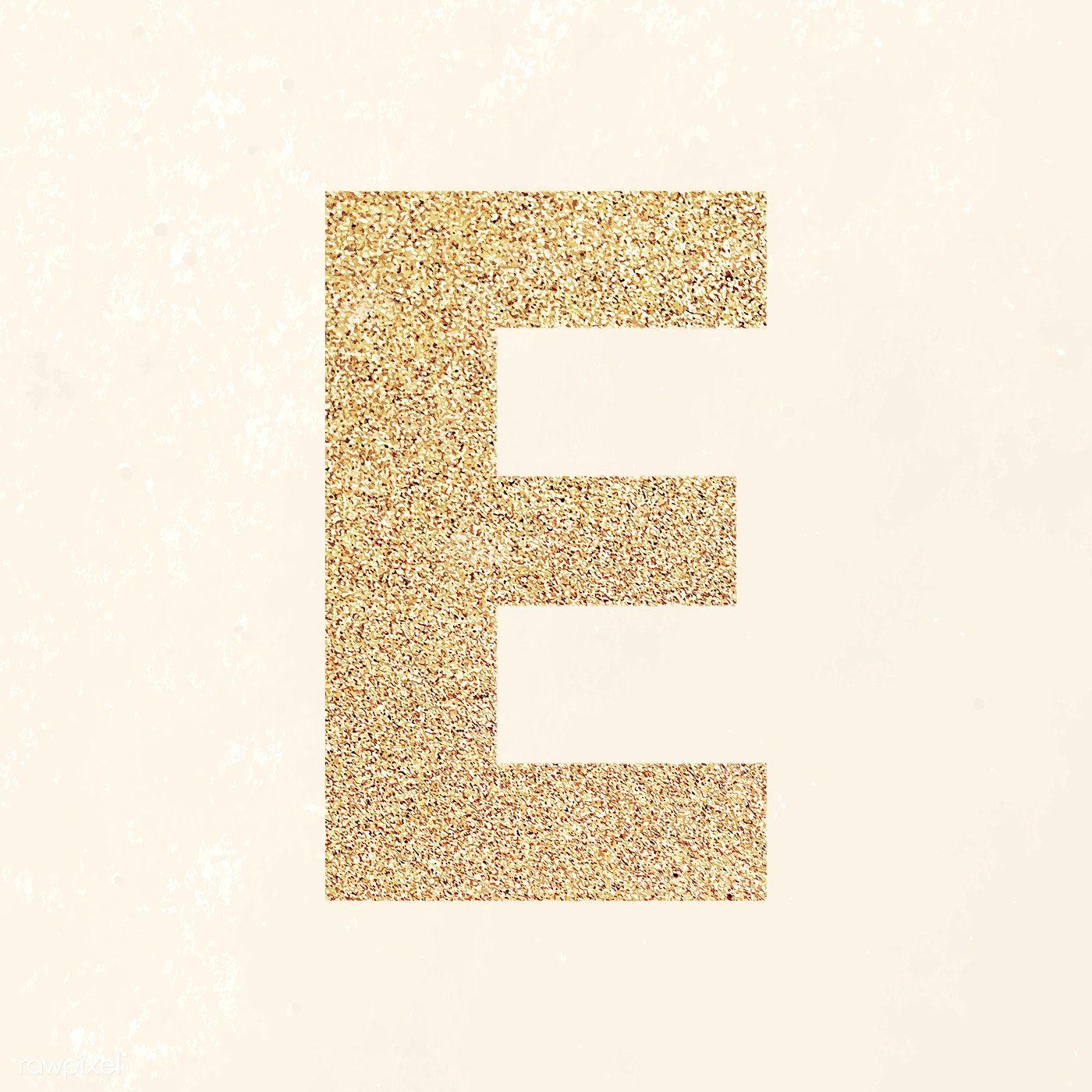 Glitter Capital Letter E Sticker Vector Free Image By Rawpixel Com Ningzk V In 2020 Lettering Alphabet Free Illustrations Image Glitter
