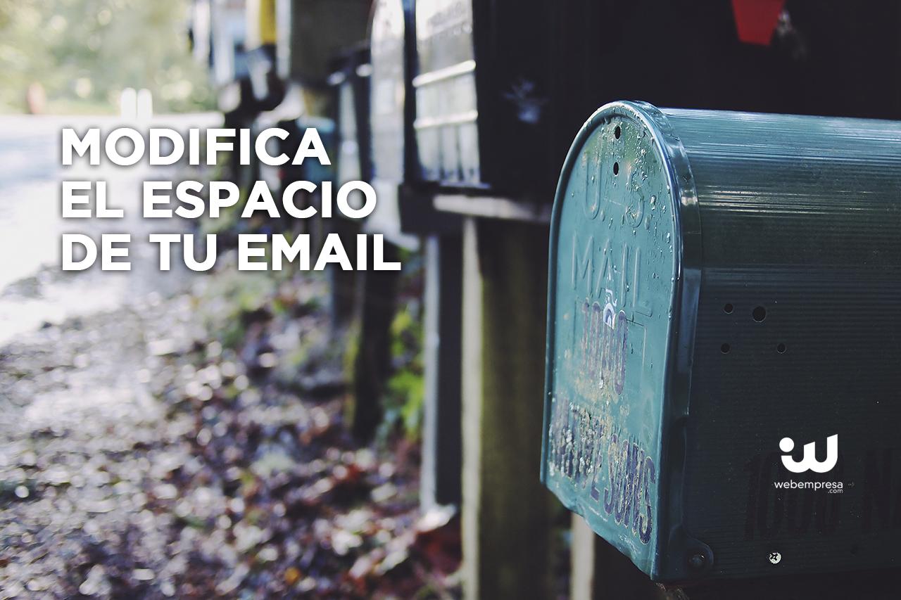 Ampliar o reducir la cuota de correo asignada, ¿cómo lo hago?