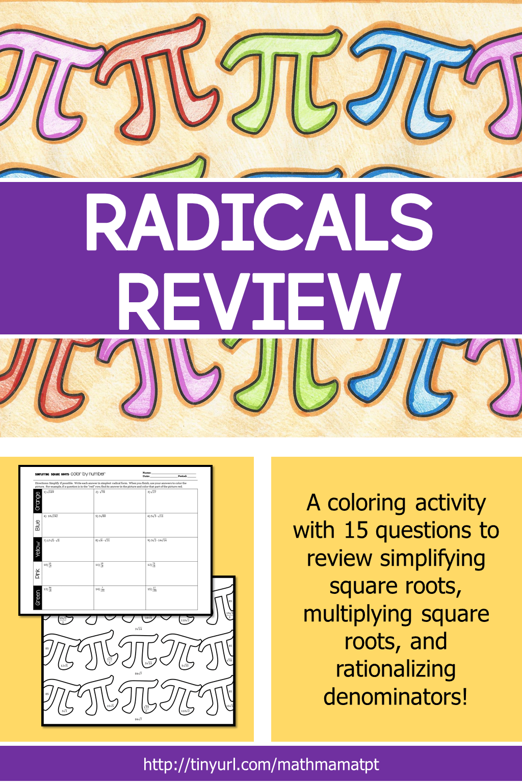 Radicals Review In Prep For Special Right Triangles