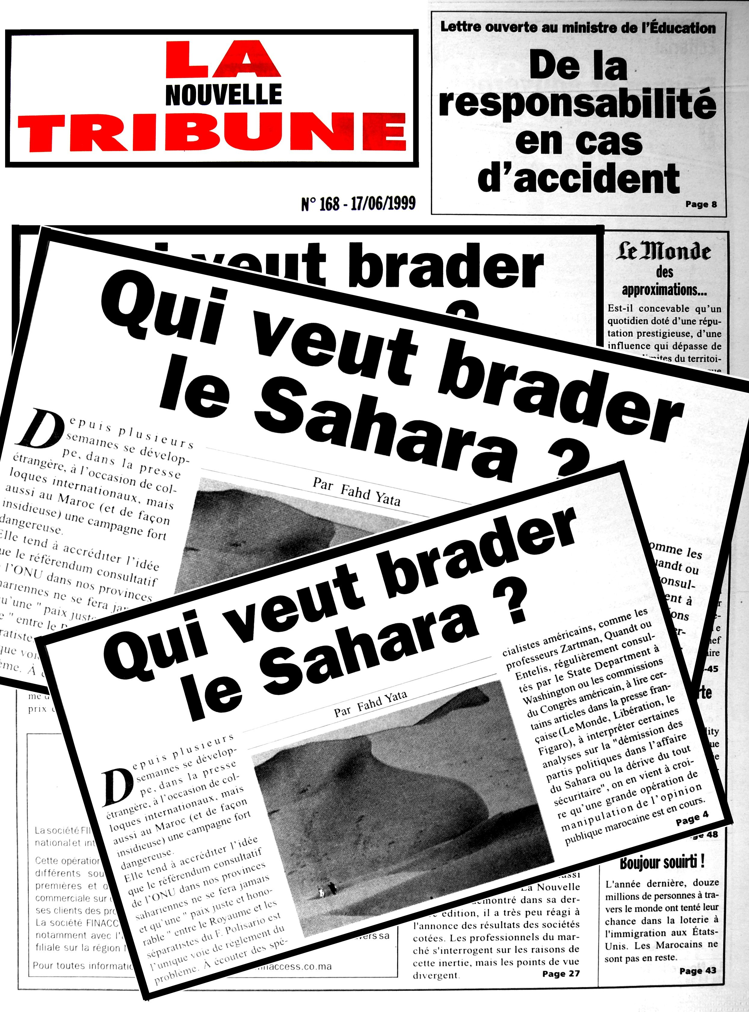 Qui veut brader le Sahara ?