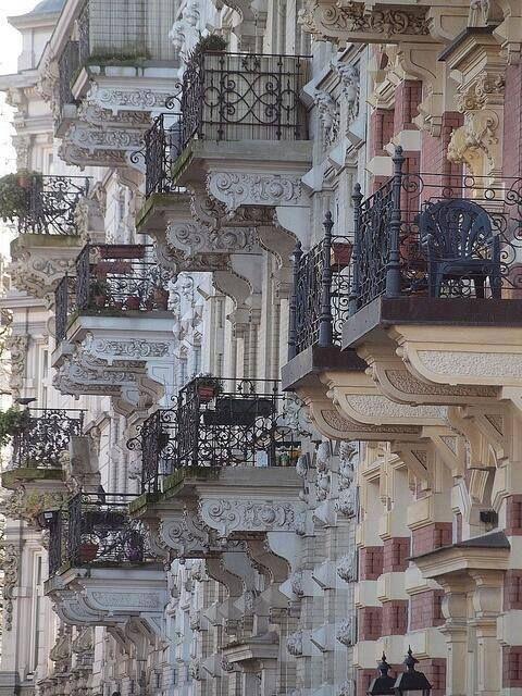 Parisian balconies…..beautiful