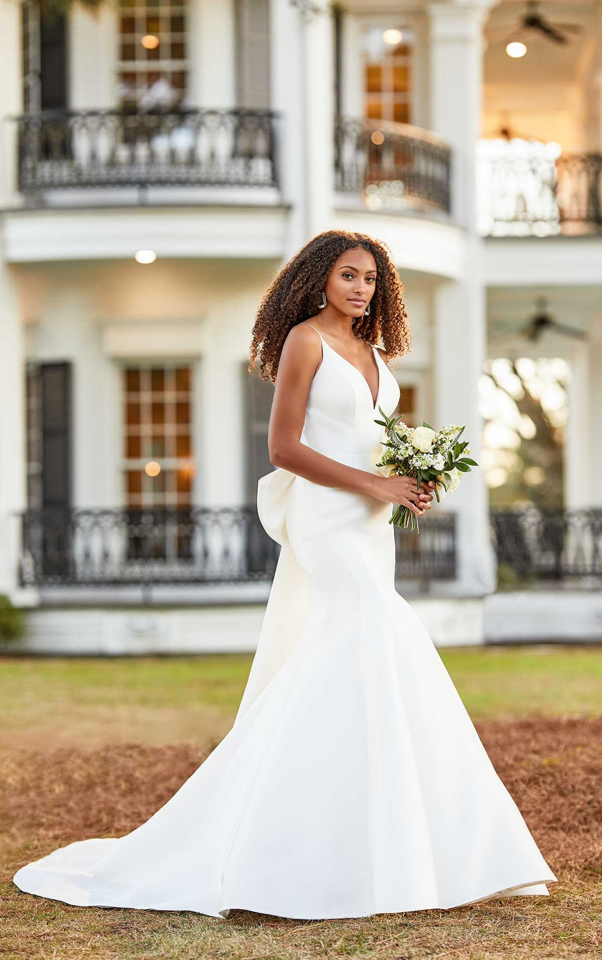20+ Wedding dress with bow straps information
