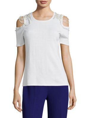 4923f920ebe8 ELIE TAHARI Noa Merino Wool Cold Shoulder Sweater. #elietahari #cloth  #sweater
