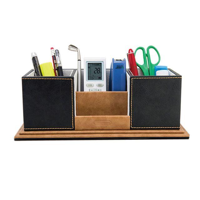 L piz oficina pluma sostenedor de escritorio de madera - Accesorios para escritorio ...