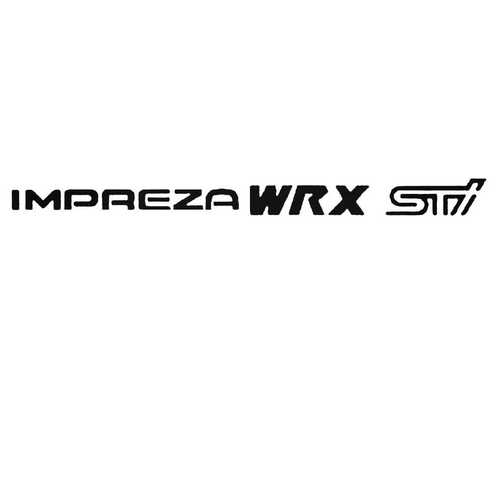 Subaru Impreza Wrx Sti Set Decal Sticker