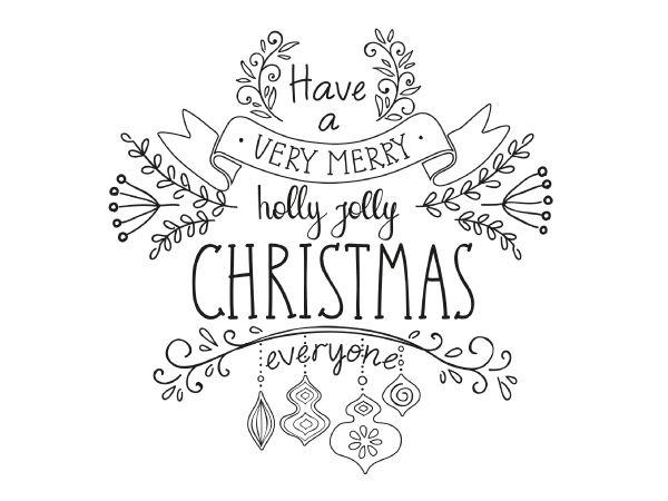 Krijtstift raamtekening Very Merry Christmas MET KRIJTSTIFTMARKER