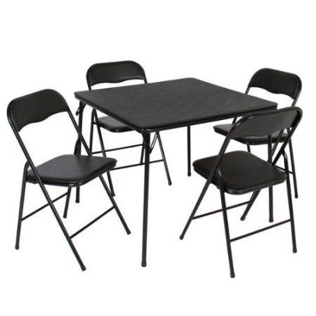 5pc Folding Table Chairs Card Poker Game Parties Portable Furniture Dining Set Portable Furniture Folding Table Card Table And Chairs