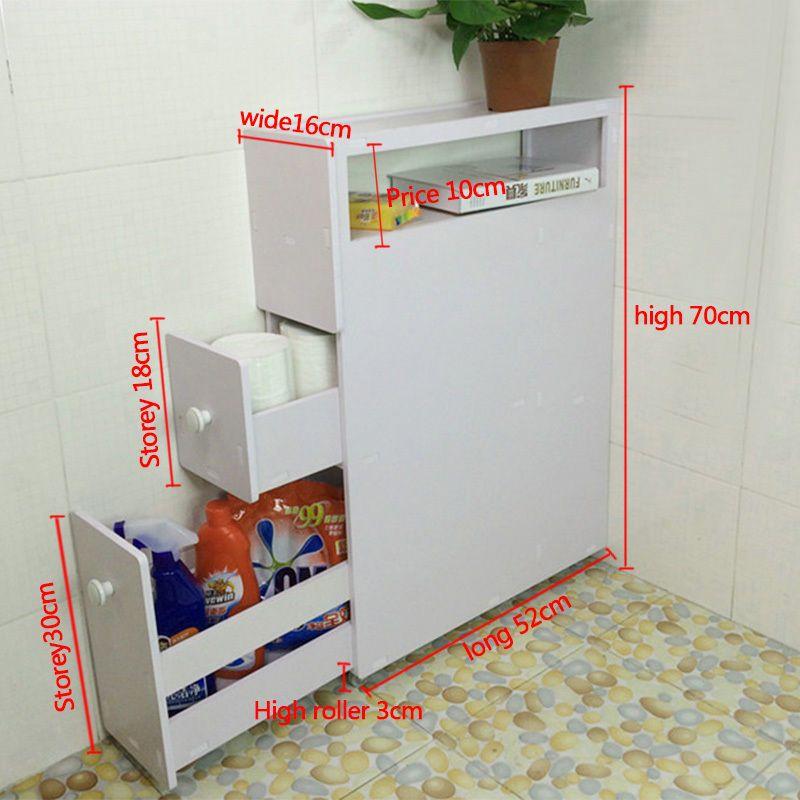 Wood Slim Bathroom Storage Cupboard Thin Cabinet Unit White Slimline Slim Bathroom Storage Bathroom Cupboard Storage Diy Bathroom Storage