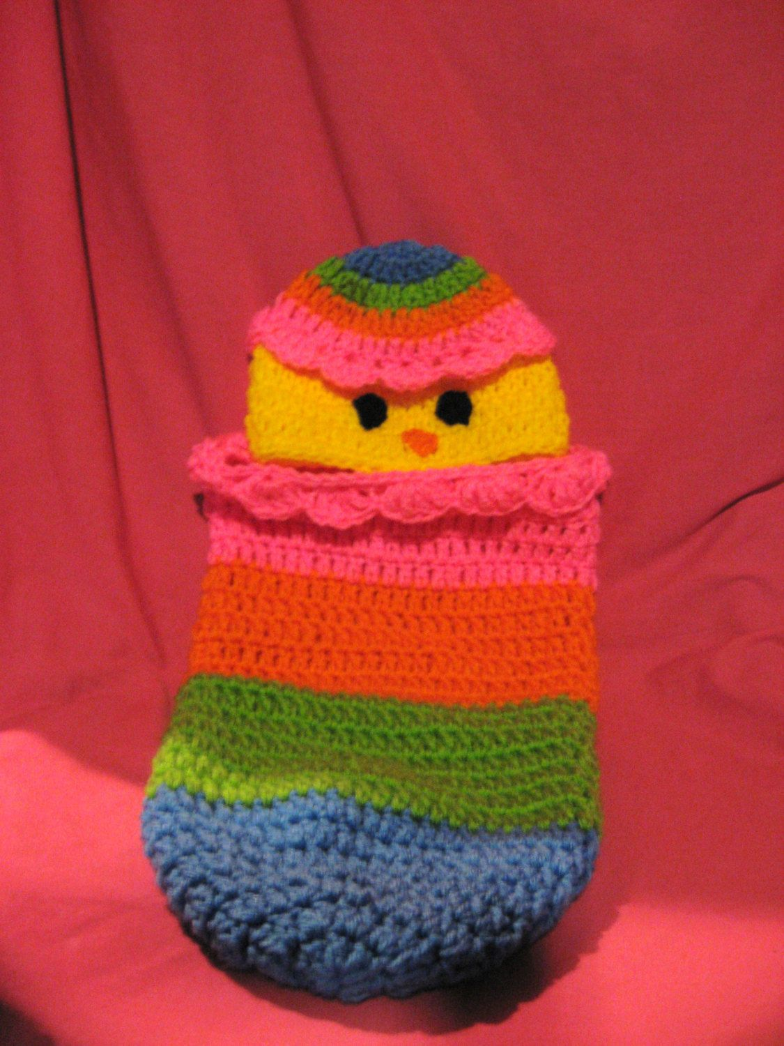Easter egg chick cocoon, baby cocoon, reborn cocoon, easter cocoon by PaulasCrochetArmoire on Etsy