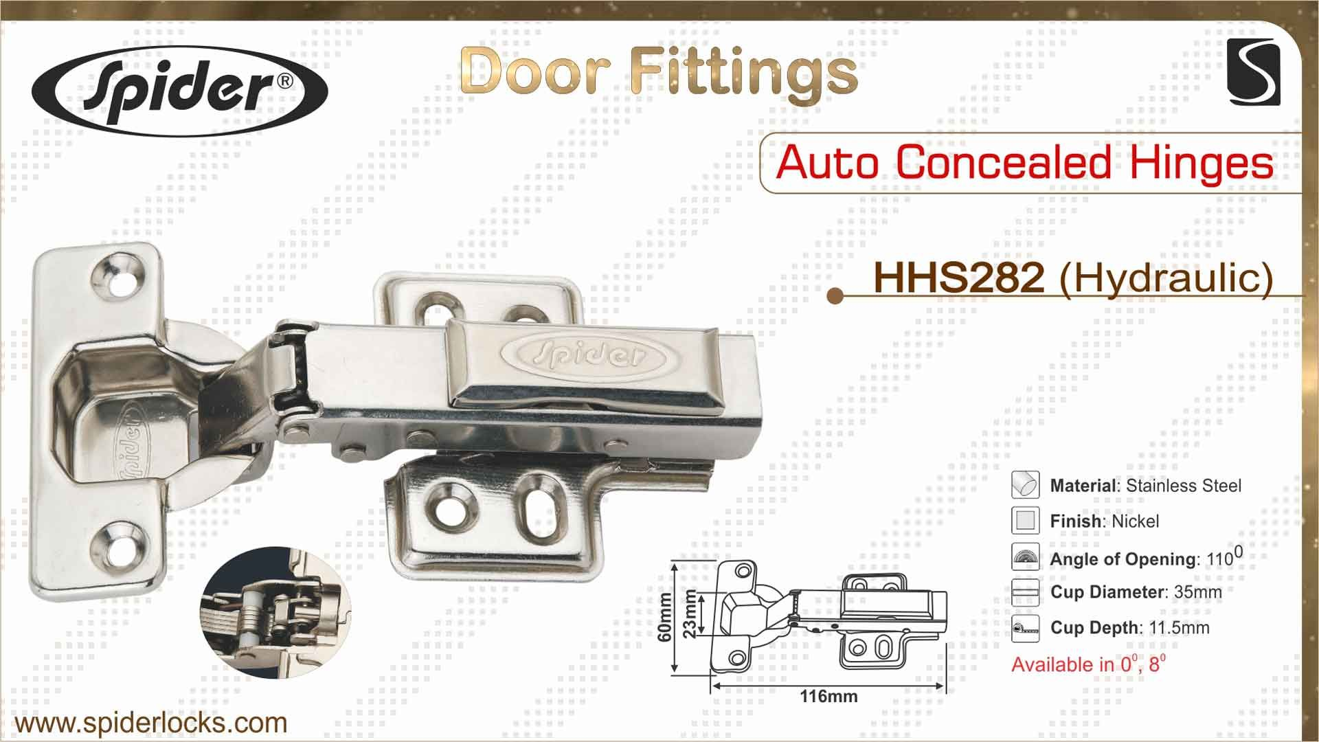 AUTO CONCEALED HINGES HHS282 HYDRAULIC