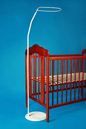 a1ead3bb0c4 £14 HOLDER STANDING FOR BABY COT DRAPE CANOPY MOSQUITO ROD BAR POLE COT BED