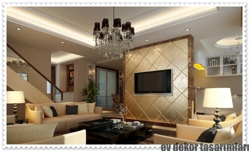 Interior Wall Designs For Living Room Yeni Trend Tv Arkası 3D Duvar Panelleri  Duvar Dekorasyonu Wall