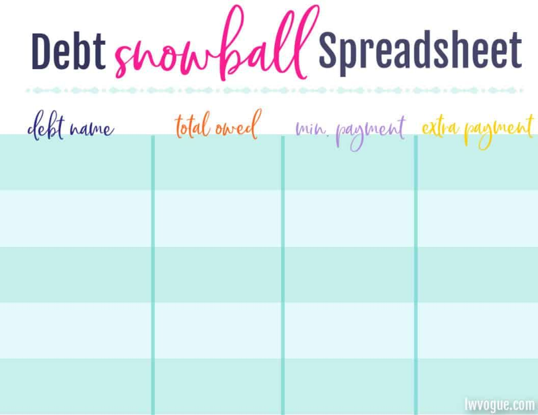 Free Debt Snowball Spreadsheet To Help Knock Out Your Debt