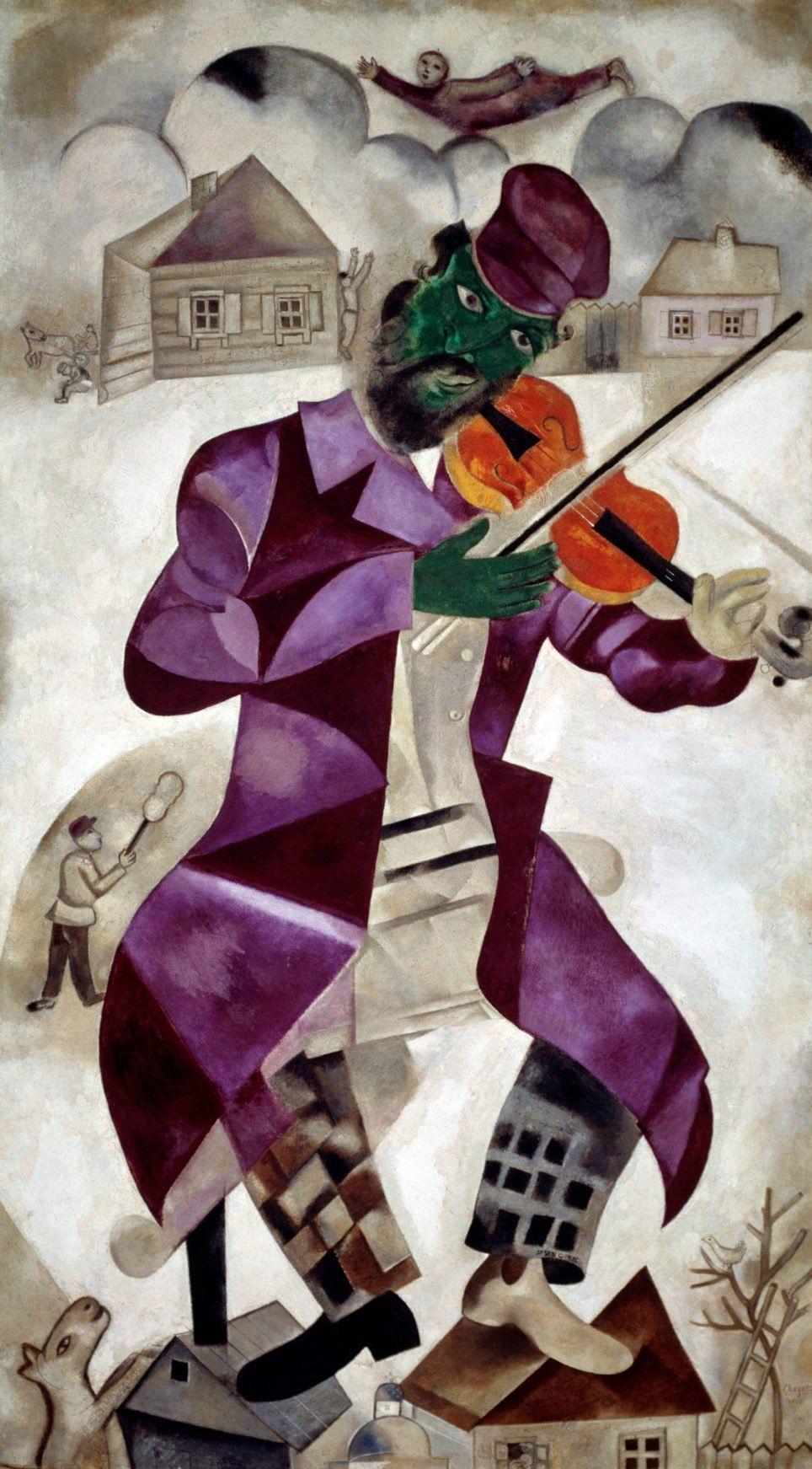 Marc Chagall Le Violoniste Vert Peintres En 2019