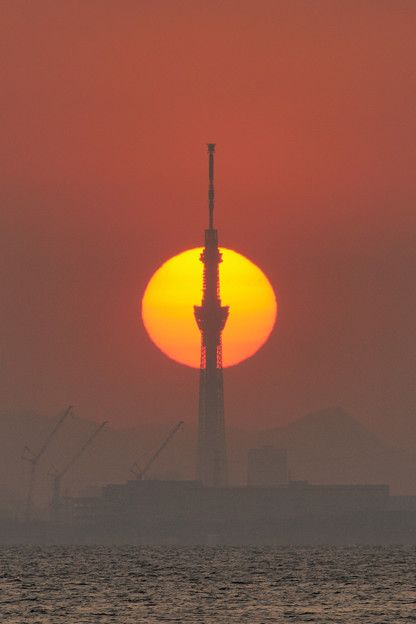 Tokyo Sky Tree sunset porn