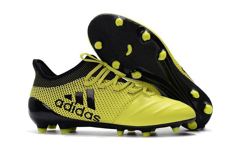 Botas De Futbol Adidas Niños X 17.1 Piel FG Amarillo Negro Online Baratas 103b907009ae1