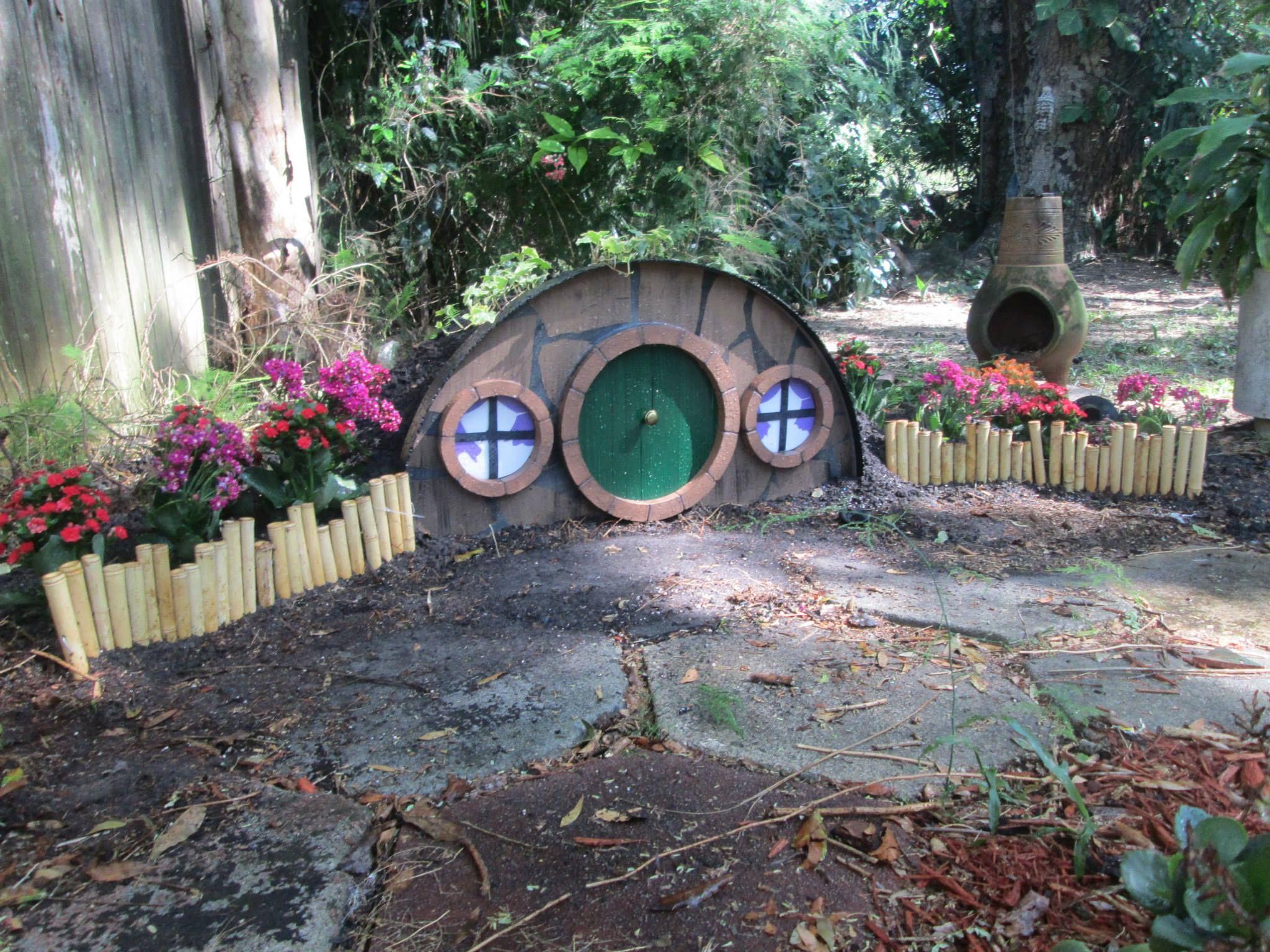 made a hobbit hole in the backyard https www facebook com