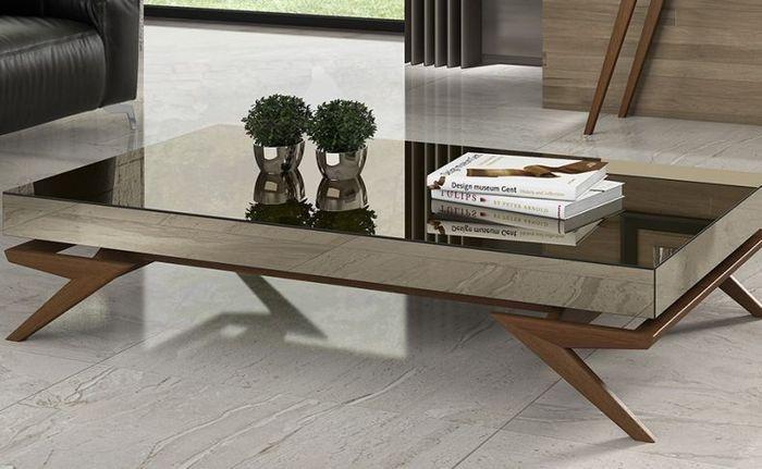 Miami And Aventura Contemporary And Modern Furniture 2806 Mh Mirrored Coffee Table Wohnzimmertische Tisch Haus Deko