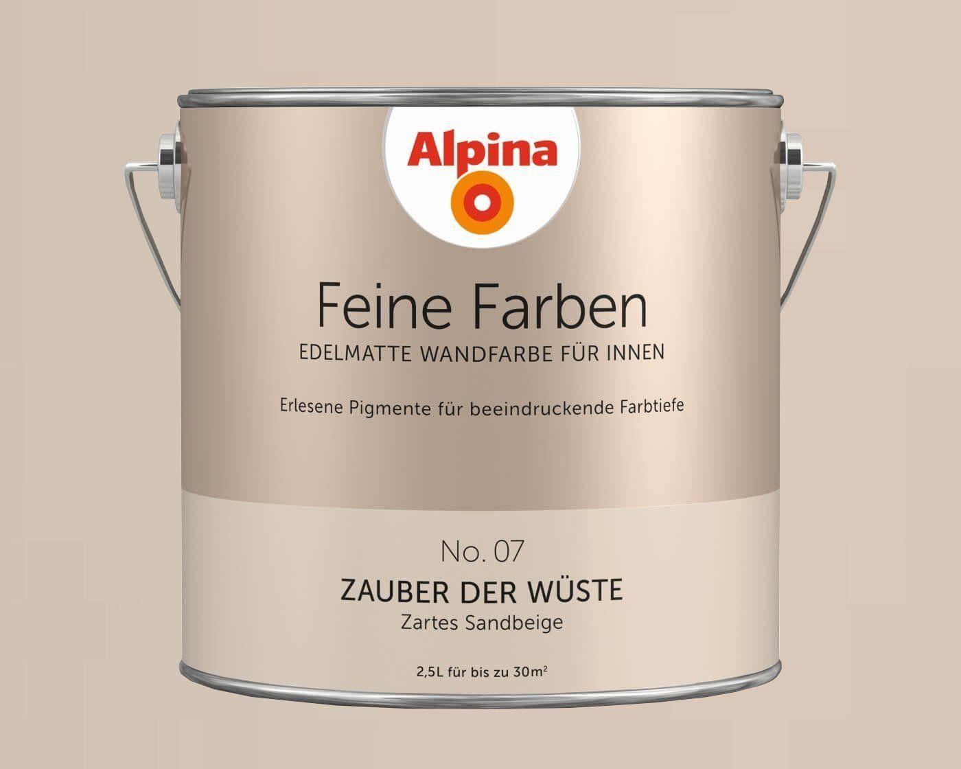 Alpina Feine Farben Edelmatte Wandfarbe Fur Innen Alle Farbtone 2 5l Dose Feine Farben Wandfarbe Feine Farben Alpina