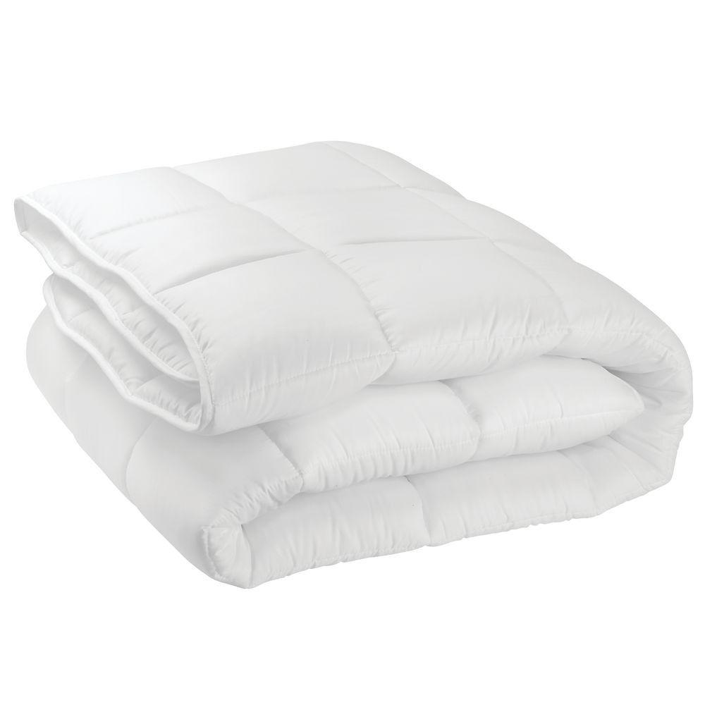 Photo of mDesign King Down Alternative Quilted Duvet Insert, Comforter – Optic White