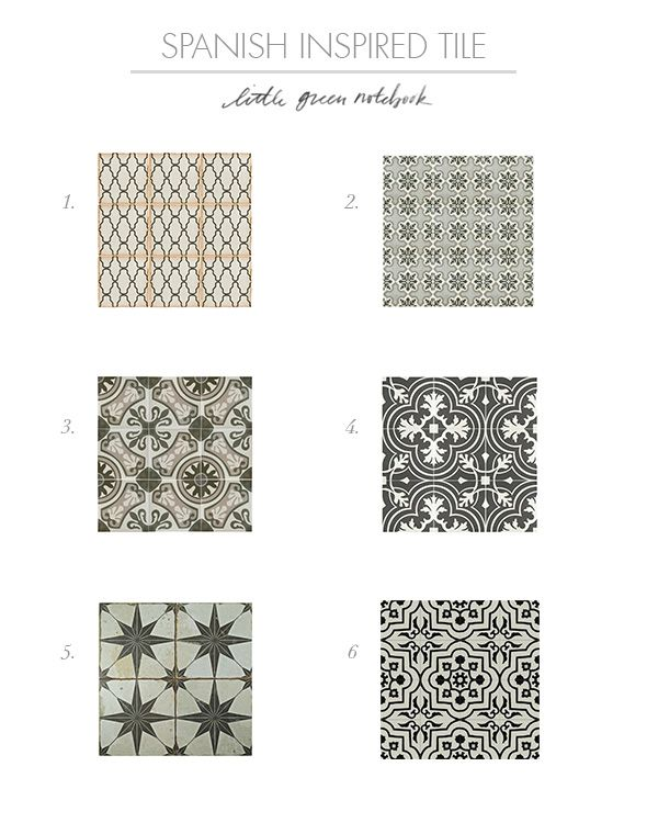Spanish Inspired Cement And Patterned Tile Round Up Spanish