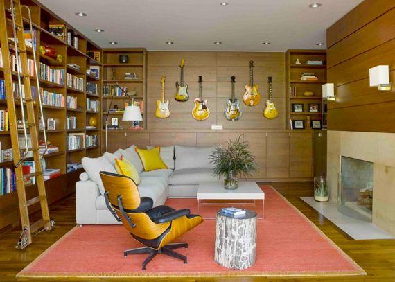 Last Look The Modern Day Man Cave Ty Pennington Music Studio Room Modern Family Rooms Room