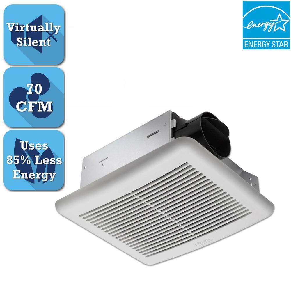 Delta Breez Slim Series 70 Cfm Wall Or Ceiling Bathroom Exhaust Fan Energy Star Slm70 Bathroom Exhaust Fan Exhaust Fan Bathroom Exhaust