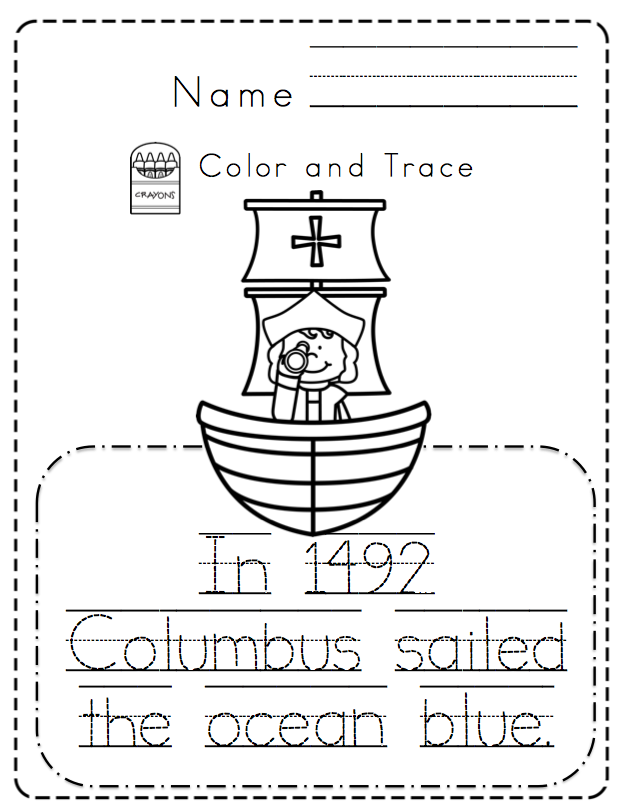 Christopher Columbus Toddler Unit ~ Preschool Printables ...