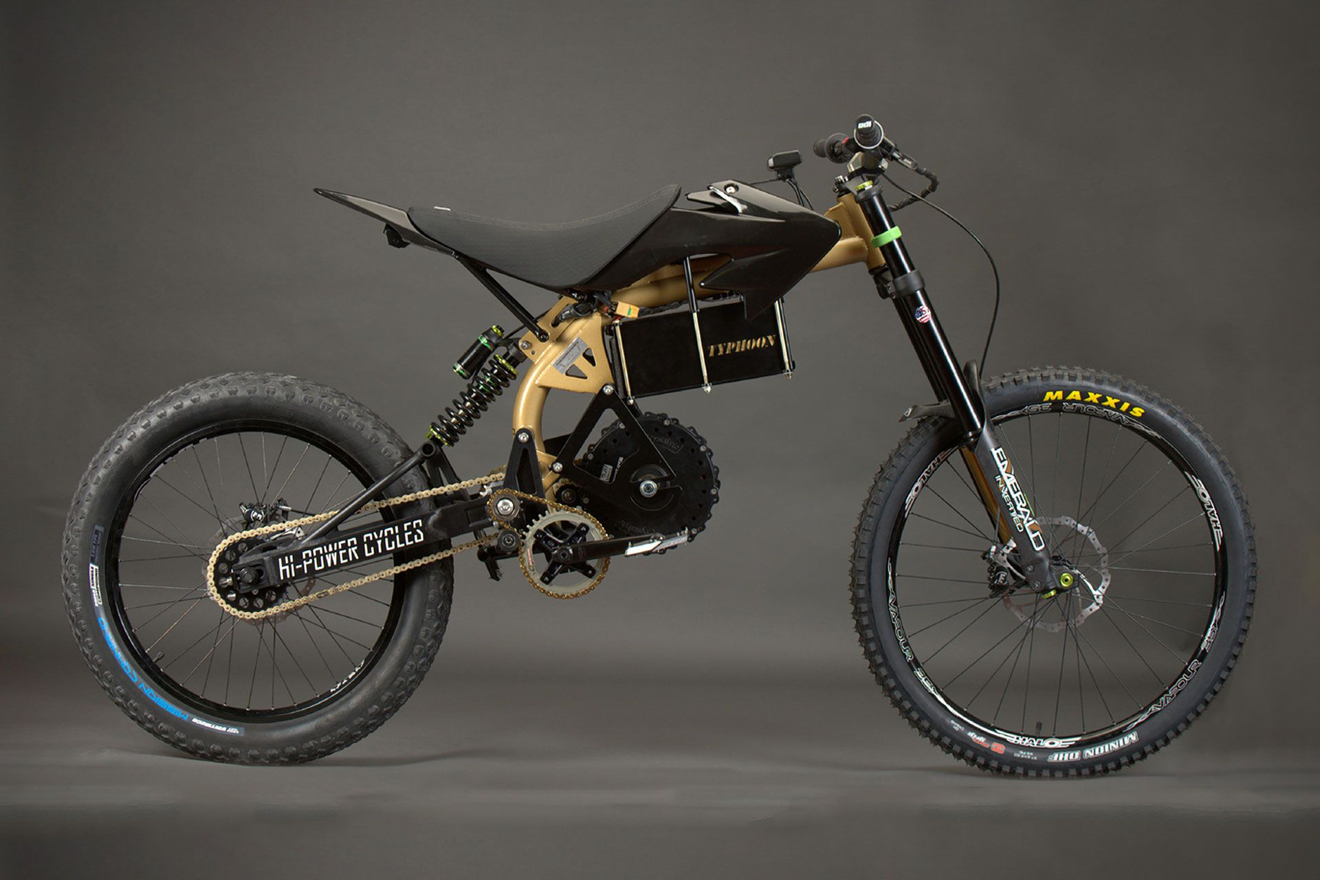 11a38b9ed9f Hi-Power Cycles' Typhoon Pro is an offroad juggernaut, ready to tackle any  terrain you can throw at it. Based on the backbone frame from the base  model, ...