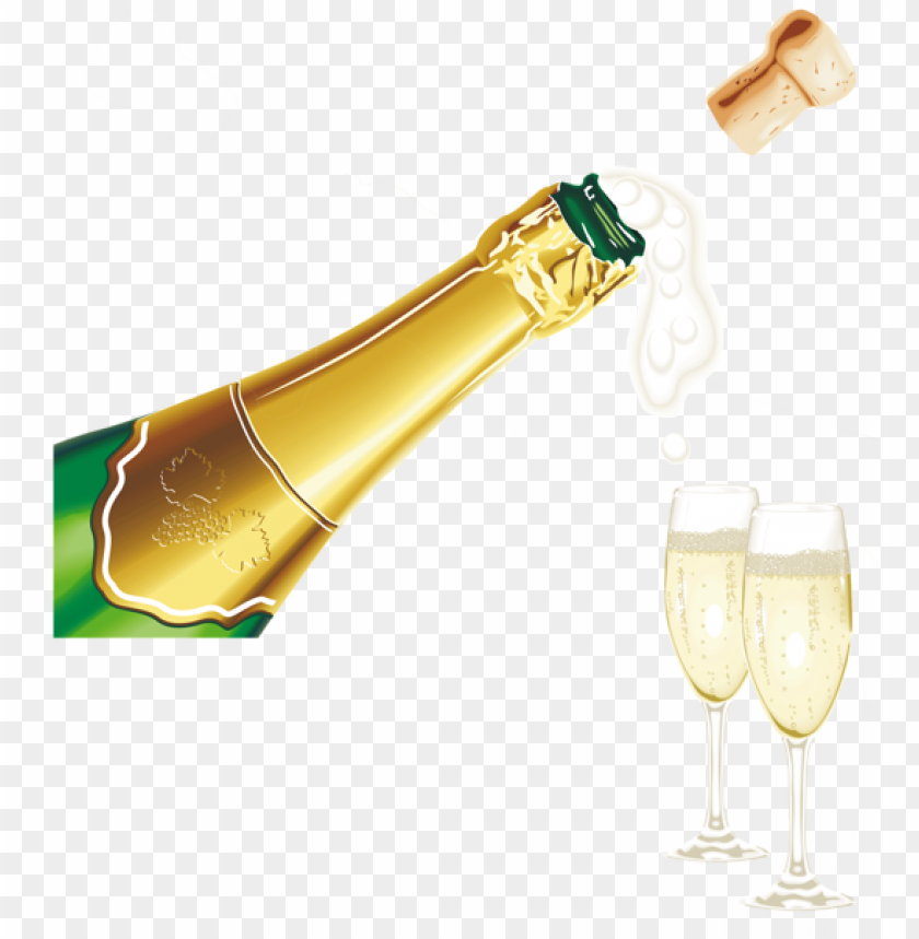 New Year Champagne With Glassespicture Png Image With Transparent Background Png Free Png Images Champagne Happy New Year Download Newyear