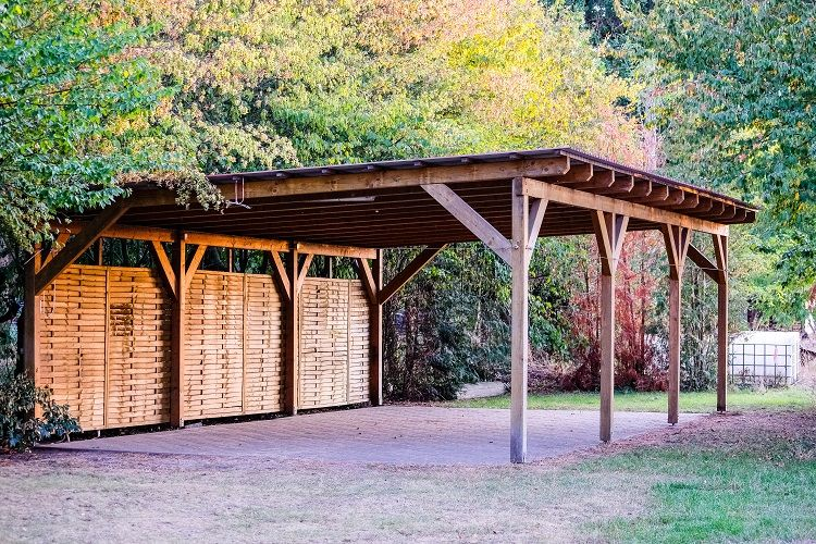The 50 Best Carport Ideas The Ideal Space For Storing Your Pride And Joy Next Luxury In 2020 Diy Carport Carport Plans Building A Carport
