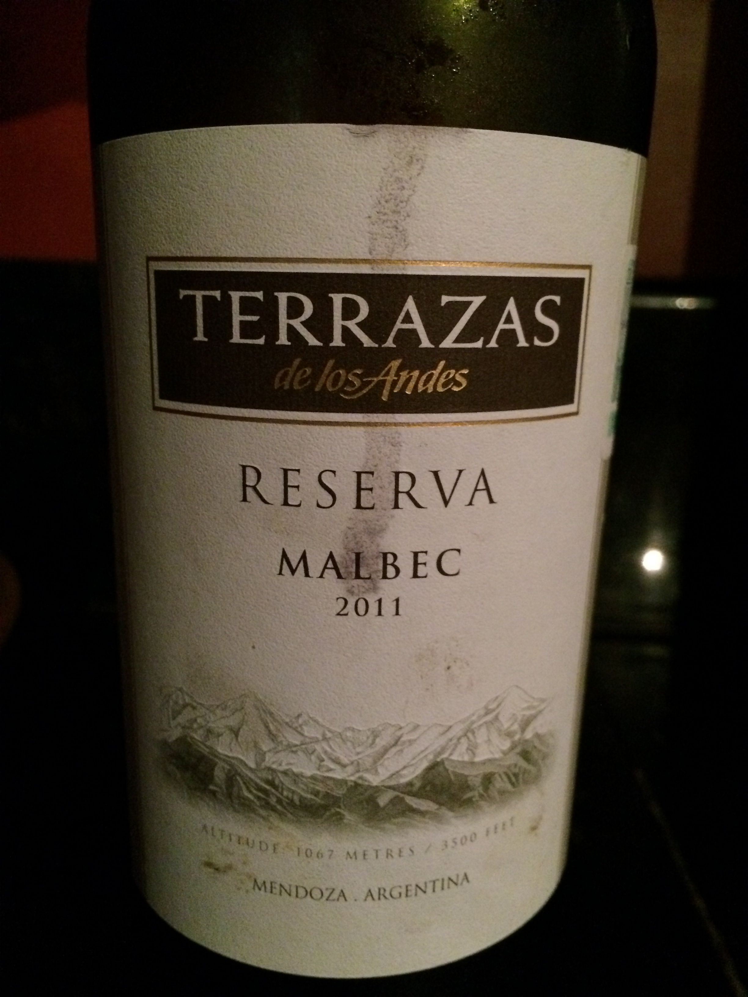 Vino Terrazas Malbec Wine Bottle Malbec Bottle
