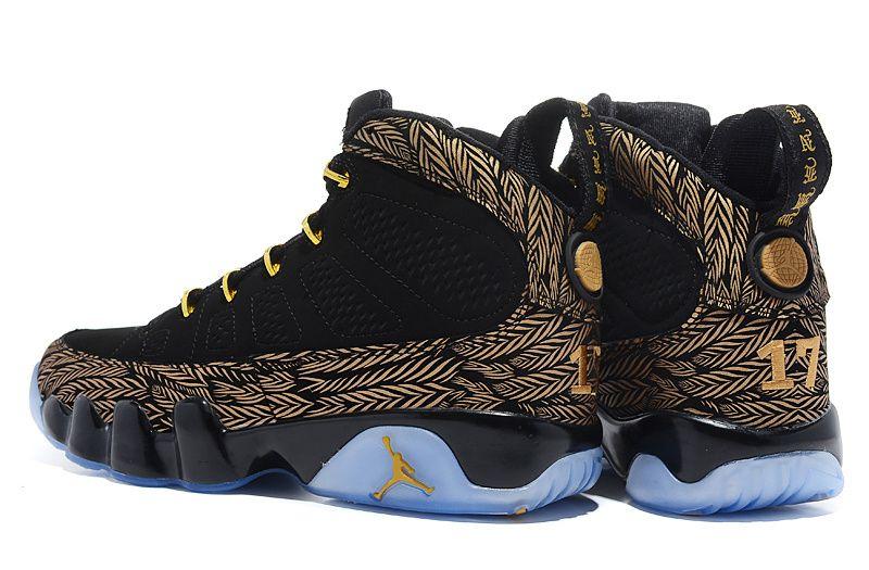 Air Jordan 9 Black Gold , Price: $73.95 Air Jordan Shoes