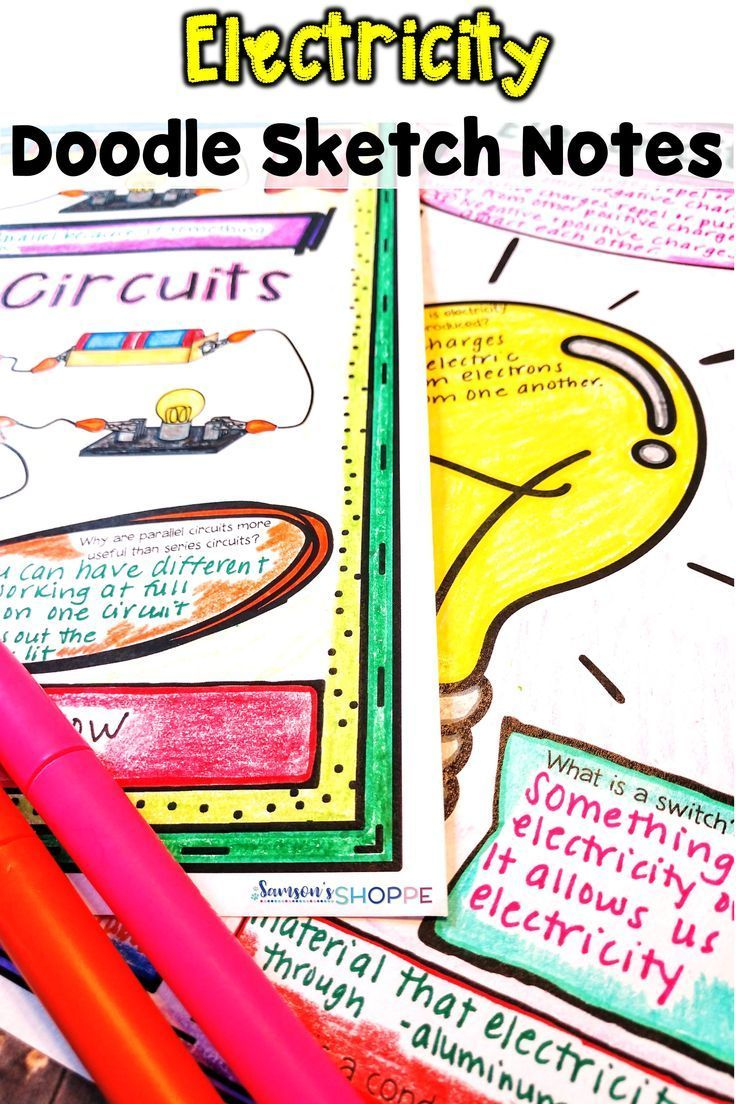 Static And Current Electricity Doodle Sketch Note Review Activity Related Image With Notes Pinterest Students Worksheets