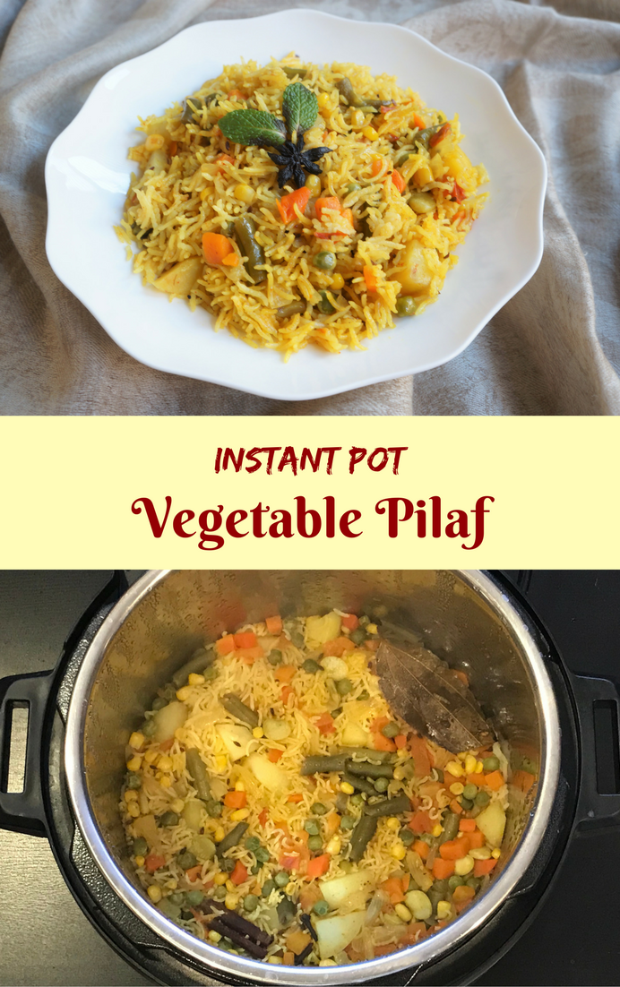 Vegetable Rice Pilaf Pulao Recipe Instant Pot Pressure Cooker