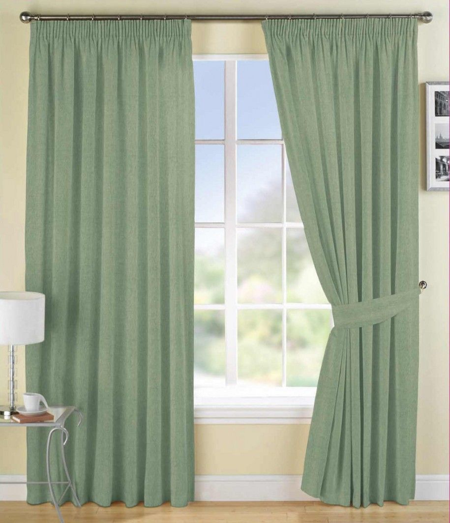 Curtains For Living Room Windows Part - 35: Living Room Curtain With Green Color