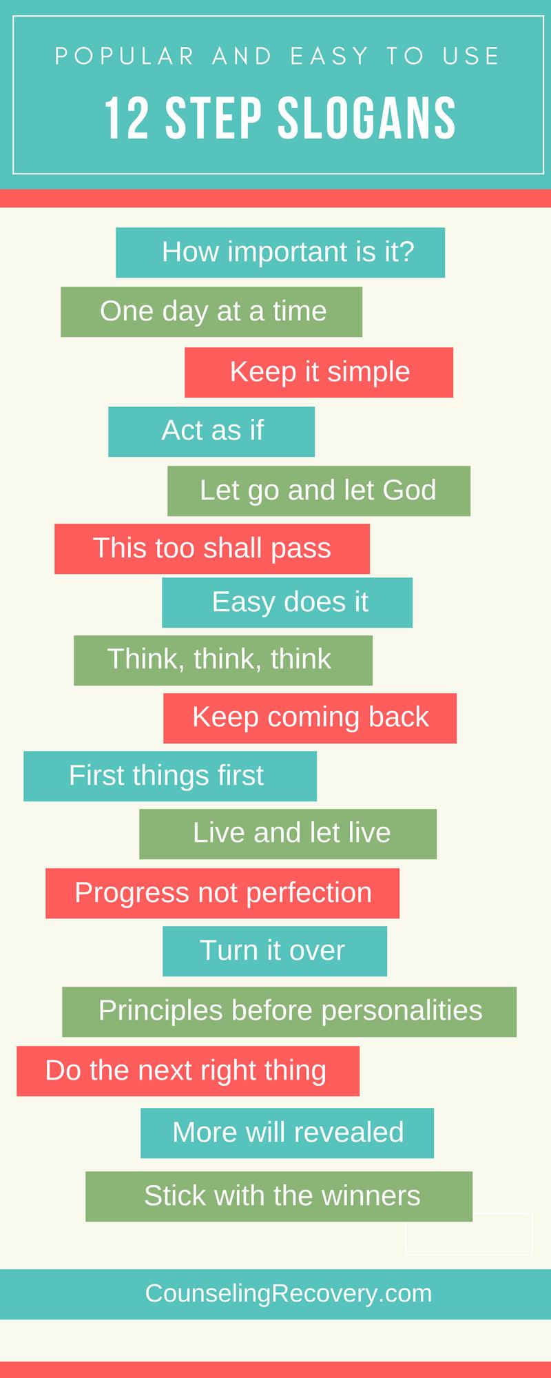 Werbesprüche Slogans | How 12 Step Slogans Work Office Things Pinterest