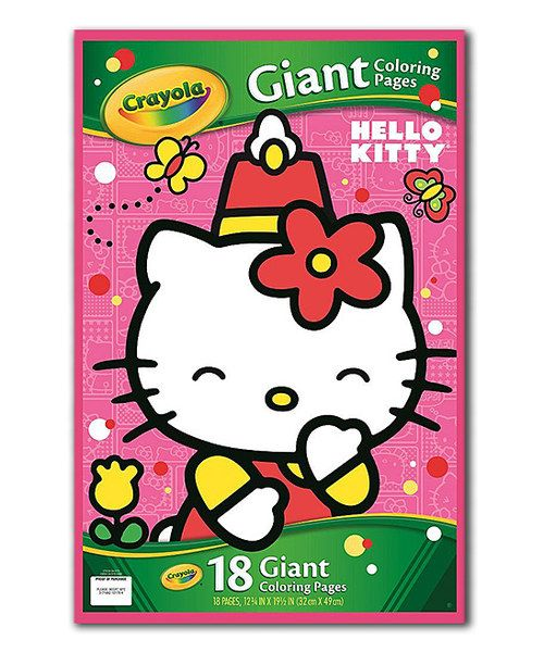 Look At This Hello Kitty Giant Coloring Pad On Zulily Today Hello Kitty Colouring Pages Hello Kitty Coloring Hello Kitty
