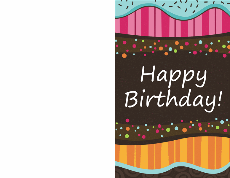 Half Fold Greeting Card Template Word In 2021 Birthday Card Printable Birthday Card Template Free Free Greeting Card Templates