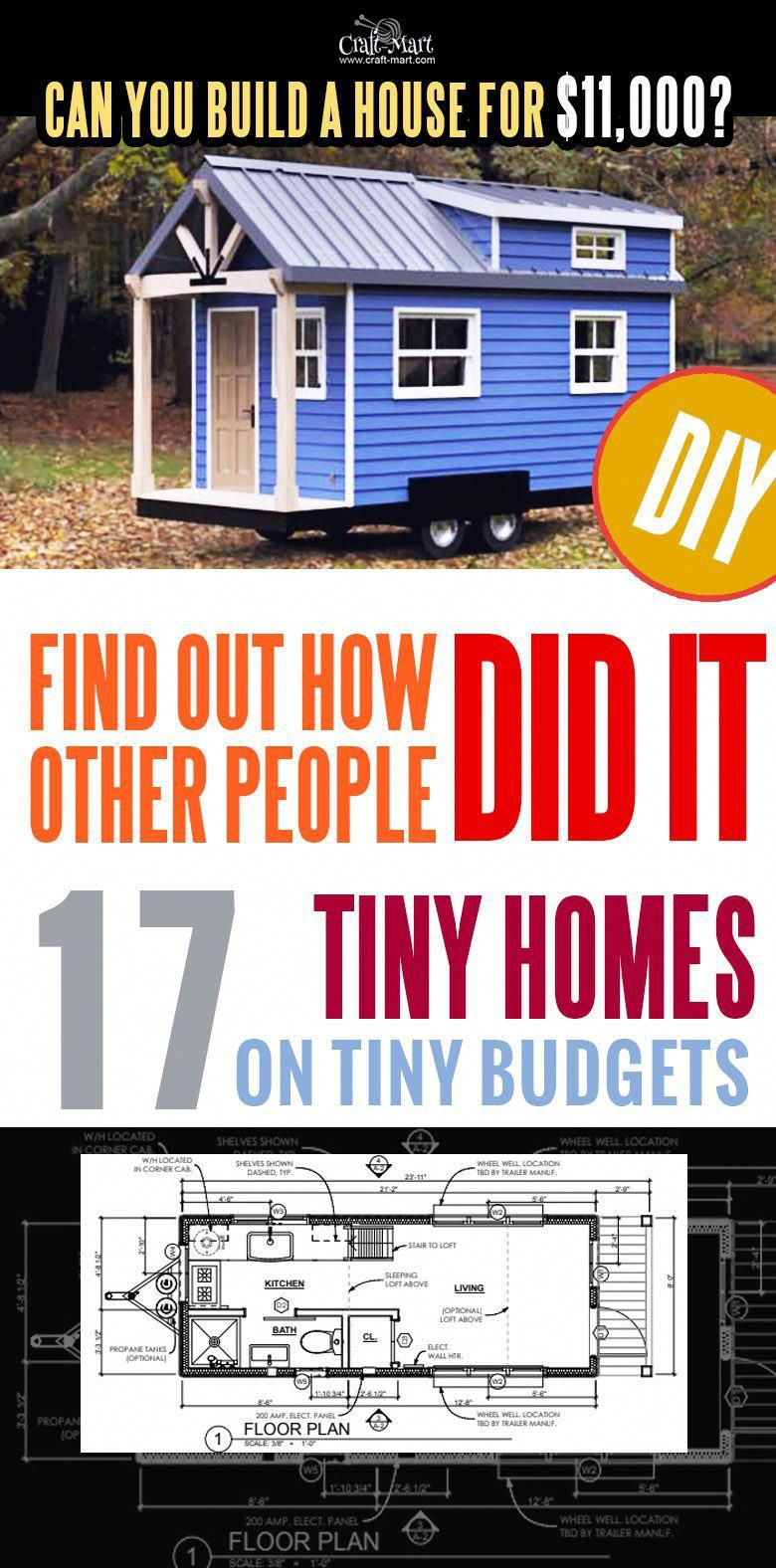 17 Best Custom Tiny House Trailers and Kits with Plans for Super Tight Bud Craft Mart